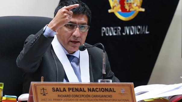 Poder Judicial refuerza seguridad del juez Richard Concepción Carhuancho
