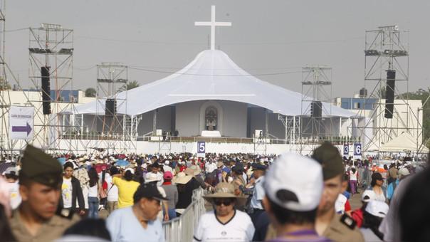 El papa Francisco regresó a Lima, tras visitar la ciudad de Trujillo