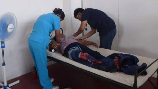Paciente recibiendo atención