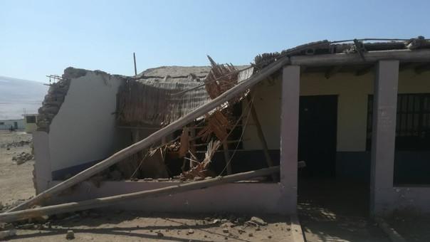 Casa colapsada por sismo en Caravelí