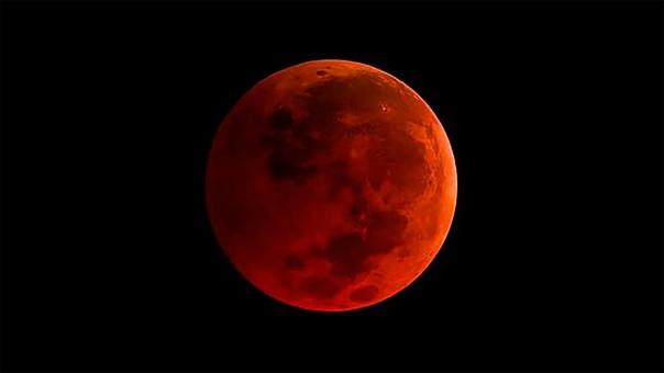La Luna adoptará un color rojo por el fenómeno astrológico.
