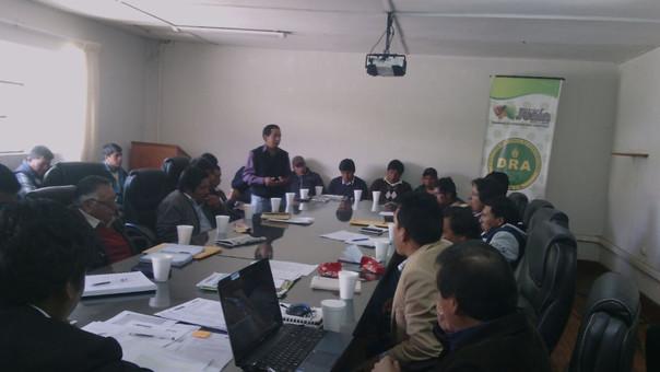 Huancayo, reunión productores de papa