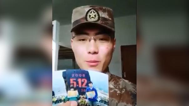 Qiang Tianlin contó su historia a  través de un video.