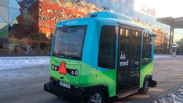Ericsson está probando su vehículo autónomo en Suecia.