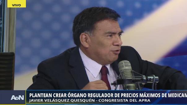 El congresista aprista considera que existe el riesgo de que los precios de los medicamentos suban tras la fusión entre Inkafarma y Mifarma.