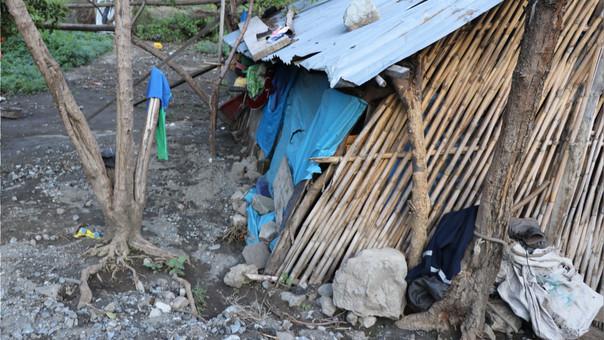Casas afectadas por lluvias