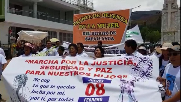 Marcha en Huancayo.