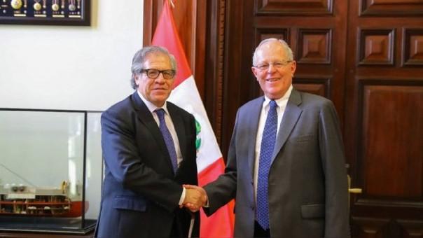 Secretario general de la OEA se reúne con Luis Galarreta en…
