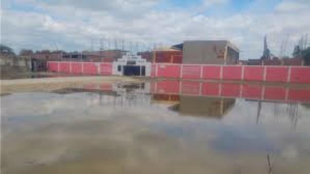 Colegio afectado por las lluvias