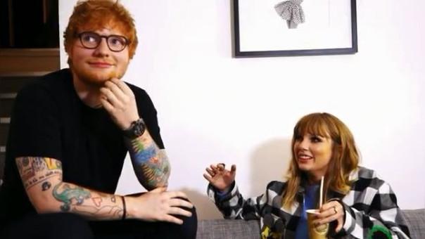 La canción fue escrita por la intérprete de Bad Blood y Sheeran, proceso que se ve en el post compartido por la cantante.