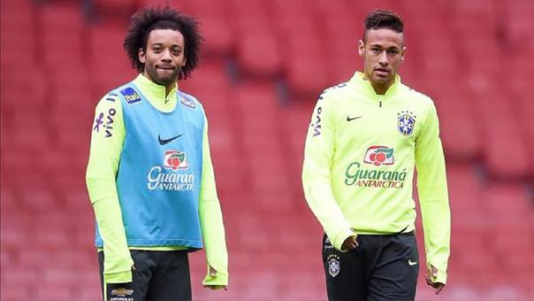 Marcelo y Neymar
