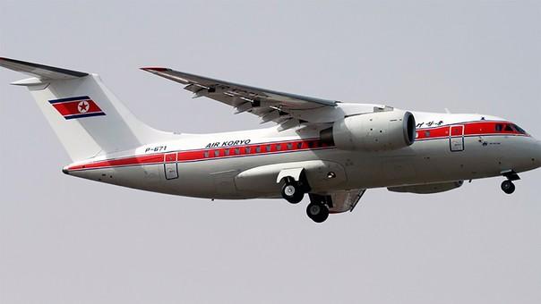 El avión Antonov An-148 como parte de Air Koryo, la línea aérea bandera de Corea del Norte.