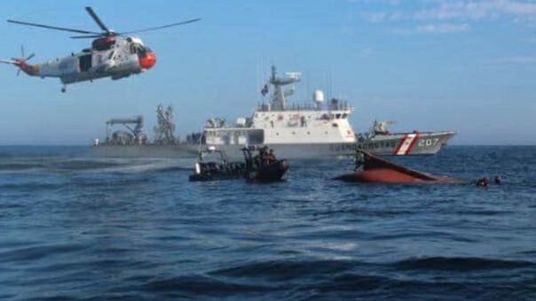 Cinco cuerpos continúan desaparecidos en el mar de Sechura.