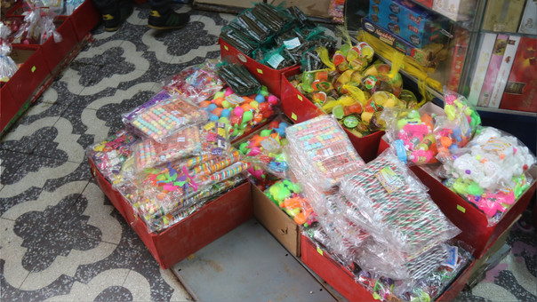 Huancayo: golosinas incautadas