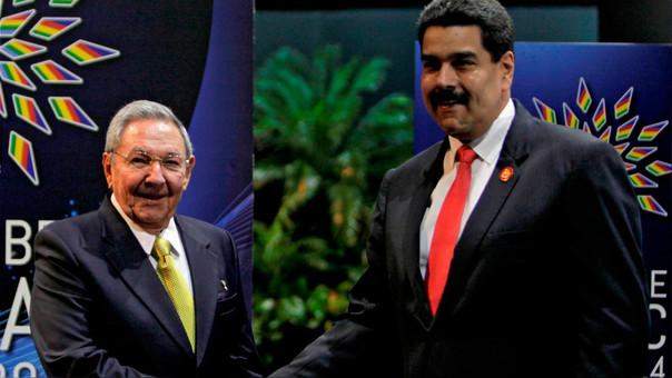 Raúl Castro y Nicolás Maduro, presidente de Cuba y Venezuela respectivamente.