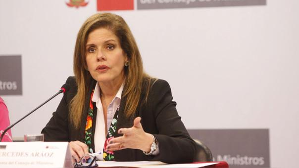 Presidenta del Consejo de Ministros, Mercedes Aráoz.