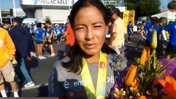 Inés Melchor se mostró contenta con el trato de la ciudad de Guadalajara.