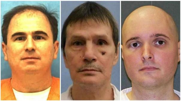 Eric Branch, Doyle Lee Hamm y Thomas Bart Whitaker, los condenados a muerte.