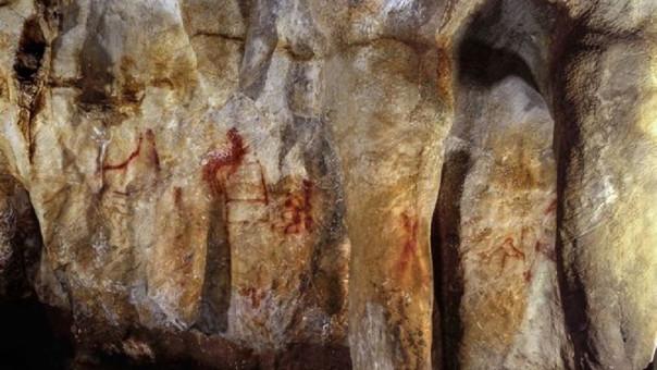 Pinturas en la cueva de La Pasiega hechas por neandertales hace más de 64 mil años