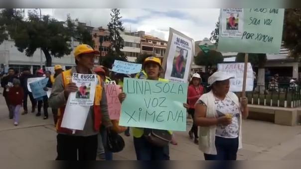 Huancayo, marcha por Ximena
