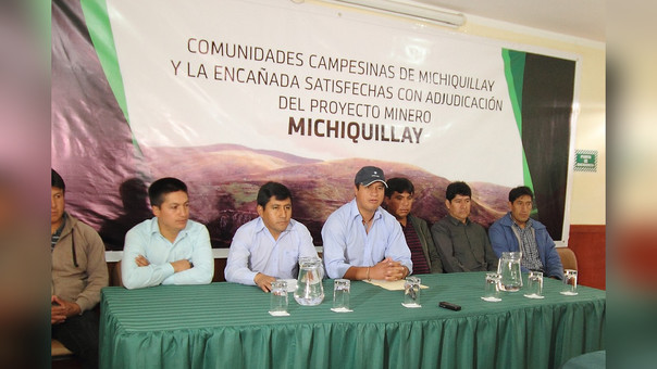 Comuneros de MIchiquillay y La Encañada aseguraron que no permitirán la politización de la inversión privada