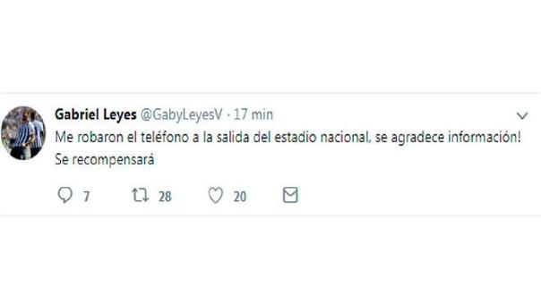 Este fue el mensaje que compartió Leyes en su cuenta de Twitter.