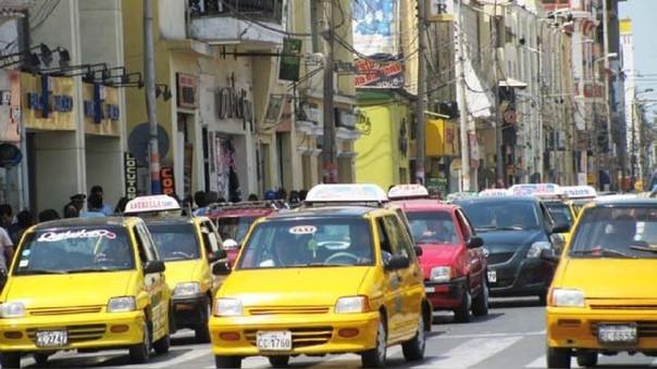La mayoría de taxis formales utilizan GPS
