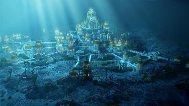 Ilustración sobre la mítica Atlántida