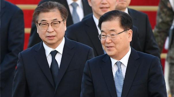 La delegación de Seúl que se reunió con Kim Jong-un volvió este martes a Corea del Sur.