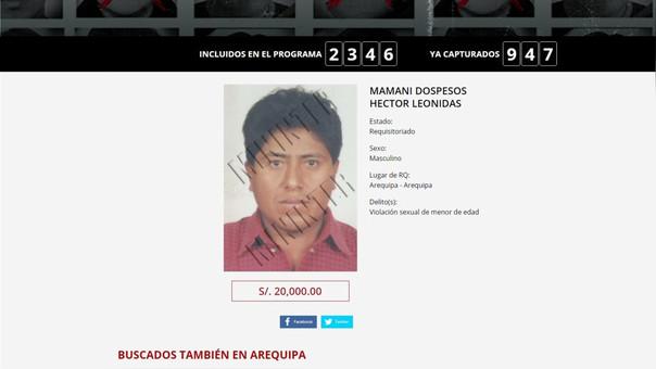 Detienen a buscado por violación sexual en Arequipa