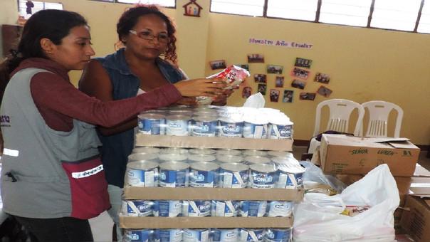 Alimentos entregados a los colegios