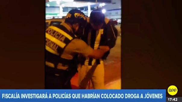Policía droga