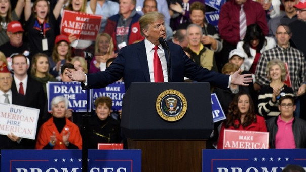 Trump durante un mitin en Pensilvania.