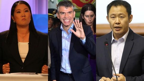 La diferencia entre Keiko Fujimori y Julio Guzmán es de solo un punto porcentual.