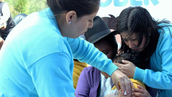 Campañas de prevención contra sarampión y rubeola.