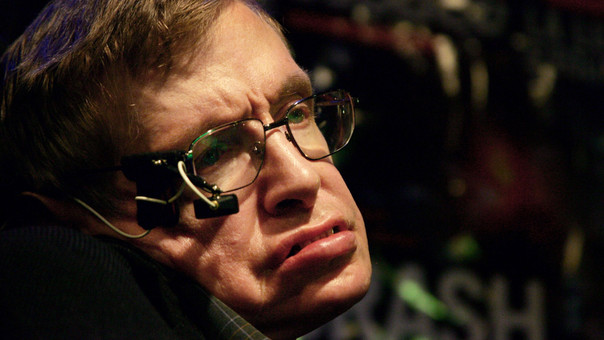 Stephen Hawking durante una conferencia de prensa en el 2006.