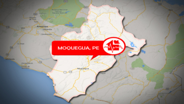 Según el IGP, el epicentro del sismo se registró a 22 kilómetros al oeste de Moquegua.