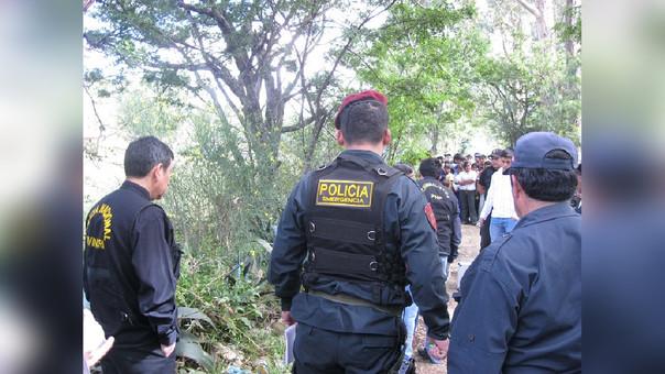 Policía Nacional realiza las investigaciones del caso para conocer el motivo de este tiroteo