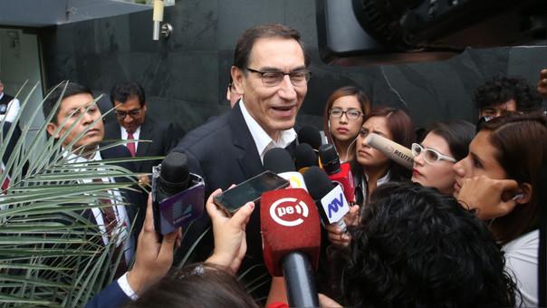 Martín Vizcarra ha preferido no pronunciarse ante la prensa durante el proceso de vacancia presidencial.
