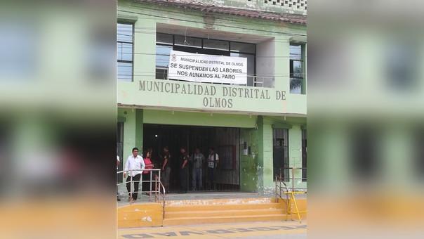Trabajadores del municipio de Olmos se sumaron a la paralización