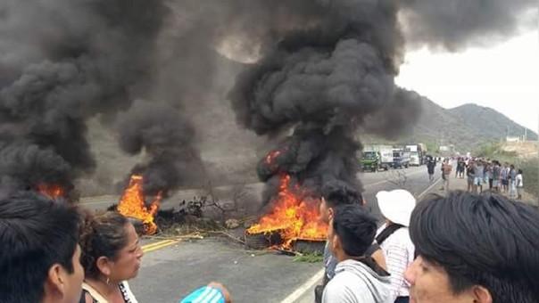 Violencia en paro de tres días en Olmos — Lambayeque