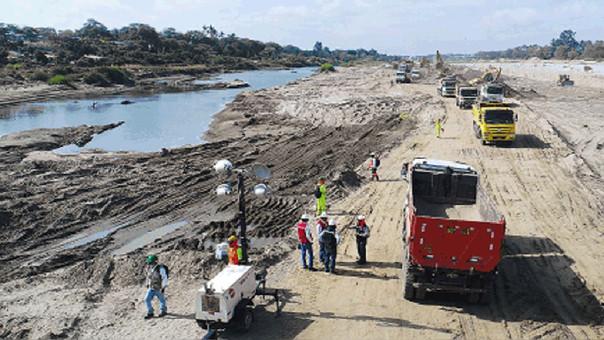 Los daños en la descolmatación se reportaron en el tramo II del río Piura.