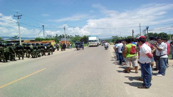 Se restableció el tránsito en la carretera Belaunde Terry.