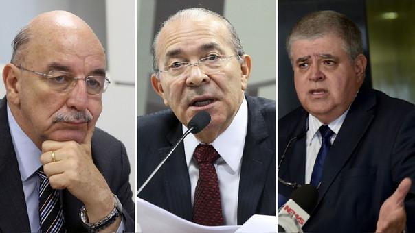 Osmar Terra (Desenvolvimiento Social), Eliseu Padilha (Casa Civil) e Carlos Marun (Secretaria de Gobierno)