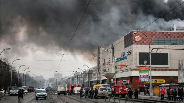 El incendio se produjo el domingo.