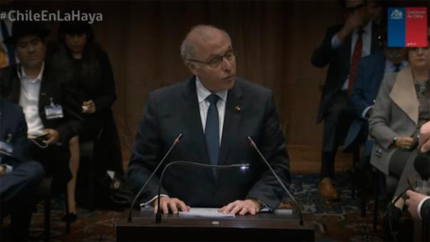 Claudio Grossman, el representante chileno ante la corte en sus conclusiones finales.