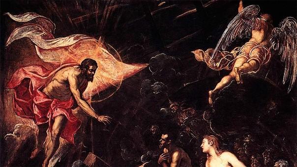 'El descenso al infierno' de Tintoretto.