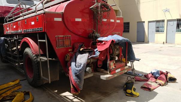 Mantneimiento de las unidades de bomberos