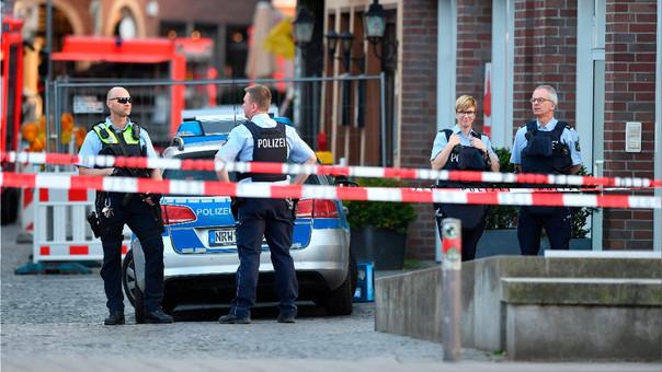 Policía en la escena del incidente.