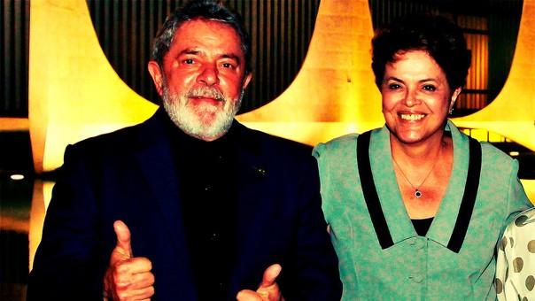 Lula y Dilma Rousseff, líderes del Partido de los Trabajadores (PT) que cayeron en desgracia.